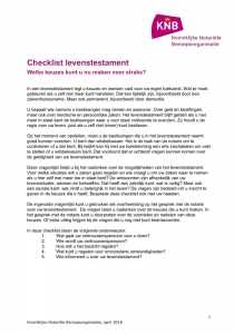 Checklist levenstestament